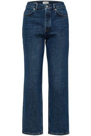 SELECTED Women High Waisted - High Waisted Straight Jeans - Medium Wash