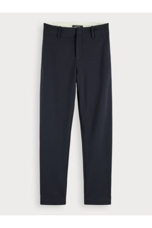 Scotch&Soda Navy Mid rose stretch tailored trouser