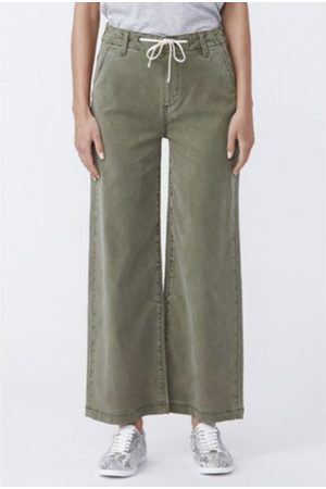 Paige Carly High Rise Wide Leg Pant - Vintage Ivy