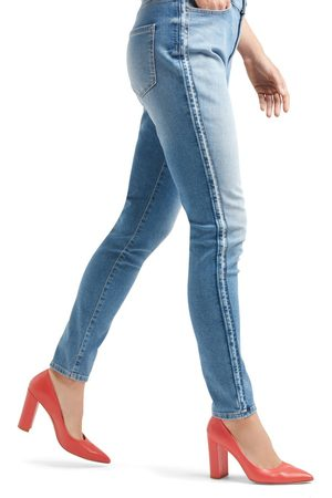 Marc Cain PALE DENIM WITH SIDE STRIPE