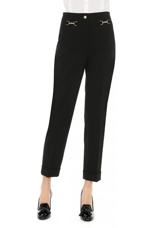 Moschino Stretch Gold Detail Slim Trousers 12, Colour: