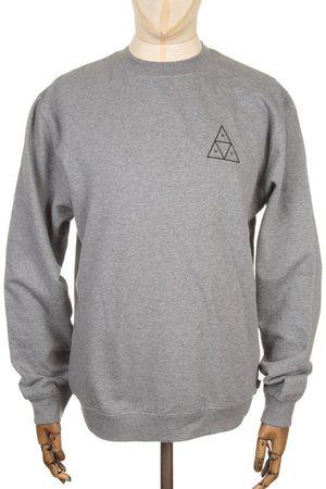 Huf Triple Triangle Sweatshirt - Heather Medium, Colour: Heather