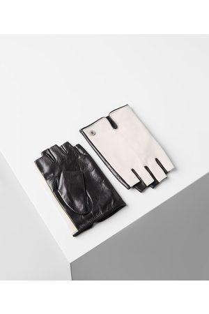 Women Gloves - Guanti in pelle con logo Karl