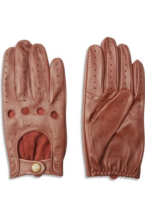 Dents Delta Classic Leather Driving Gloves - English Tan