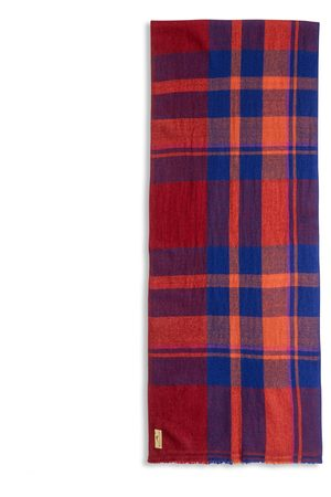 Burrows and Hare Men Scarves - Burrows & Hare Cashmere & Merino Wool Scarf - Tartan