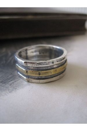 Collard Manson 925 Solid Silver and Plated Bands Ring