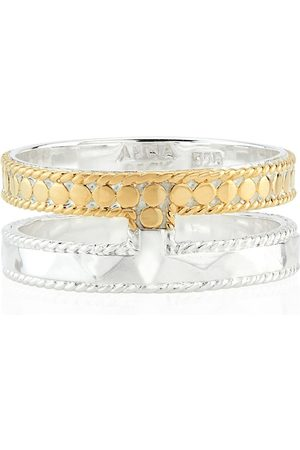 Anna Beck Signature Hammered & Dotted Double Band Ring - &