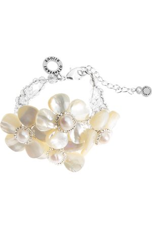 Ottaviani Bracelet with mother of pearl flowers