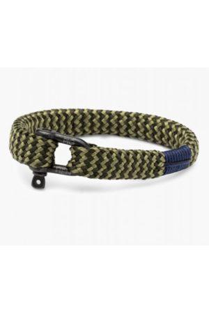 pig & hen Men Bracelets - Sharp Simon Bracelet in Army / Reed / Black