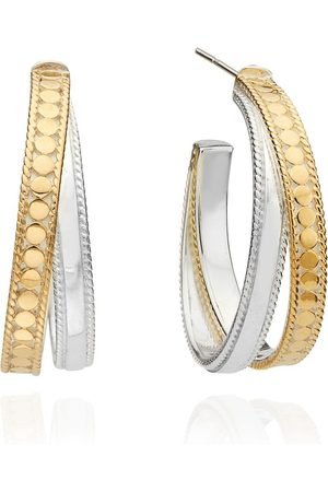 Anna Beck Signature Crossover Hoop Earrings - Gold &
