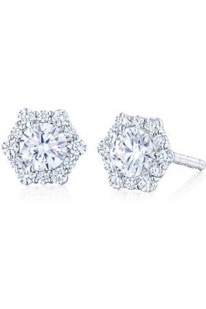 Kwiat Diamond Hexagonal Stud Earrings
