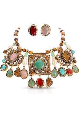 THALÈ BLANC Women Necklaces - Byzantine Necklace and Earring Set