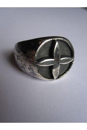 Collard Manson 925 Oxidised Cross Ring