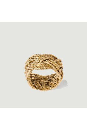 Aurélie Bidermann Miki braided plated ring Métal doré Aurélie Bidermann