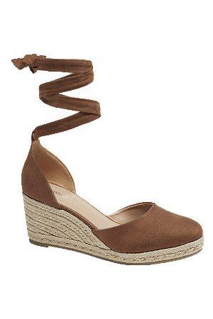 Graceland Women Sandals - Tan Wedge Espadrille Sandals