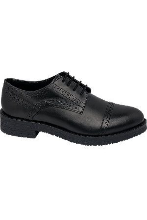 5th Avenue Women Brogues - Leather Brogue Lace Up Shoes