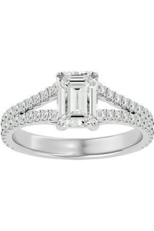 SuperJeweler 2 Carat Emerald Cut Diamond Engagement Ring in 14K (3.8 g) (G-H, SI1), Size 4