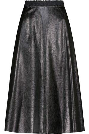 Moncler Faux leather midi skirt