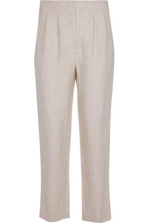 VERONICA BEARD Zeenat linen twill tapered pants