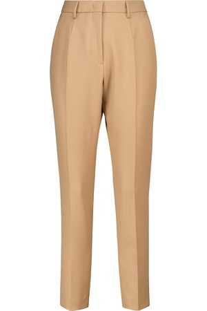 Etro High-rise wool slim straight pants