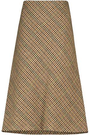Maison Margiela Checked wool midi skirt