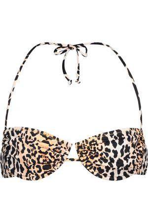Reina Olga Penny leopard-print bikini top