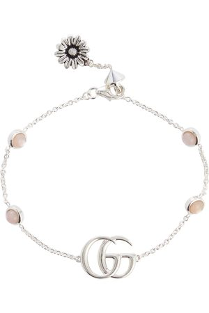 Gucci Double G mother-of-pearl and sterling bracelet