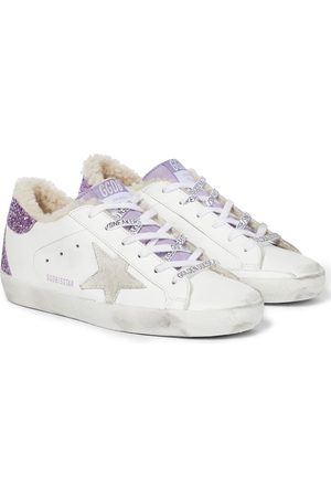 Golden Goose Superstar faux fur and leather sneakers