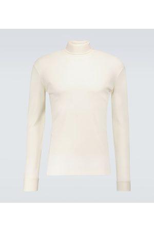 LEMAIRE Men Long Sleeve - Cotton long-sleeved turtleneck