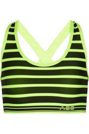 Adam Selman Sport Striped cross-back sports bra