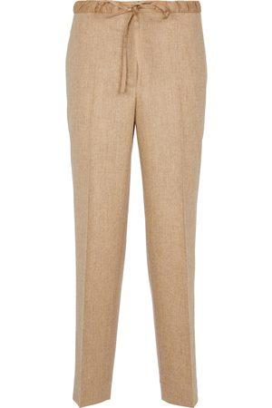 Jil Sander Drawstring wool-blend pants
