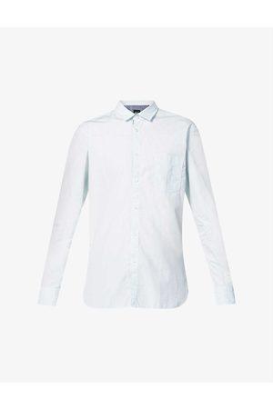 Boss Stripe-print long-sleeved cotton shirt
