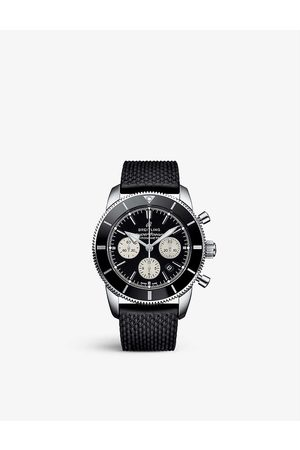 Breitling Men Watches - AB0162121B1S1 Superocean Heritage '57 stainless-steel and rubber automatic watch