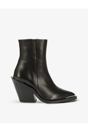 The Kooples Pointed-toe leather ankle boots