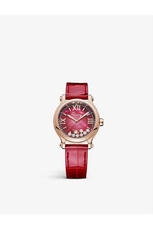 Chopard Happy Sport 275378-5005 18ct rose- and diamond automatic watch