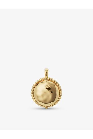 Monica Vinader Deia 18ct recycled yellow -plated vermeil sterling-silver locket
