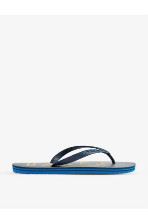 Ted Baker Donel logo-embossed rubber flip-flops