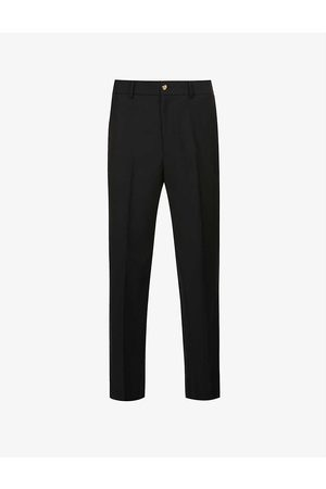 Gucci Regular-fit tapered cotton and wool blend trousers
