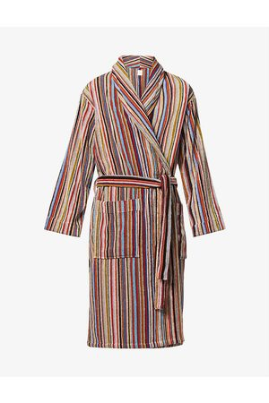 Paul Smith Signature stripe cotton-jersey dressing gown