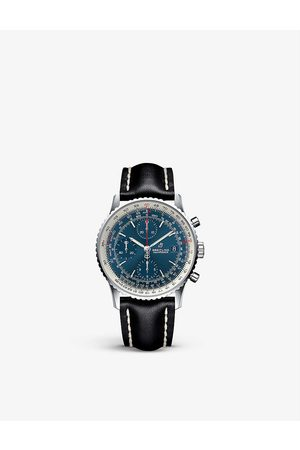 Breitling Navitimer 8 stainless steel and leather automatic watch