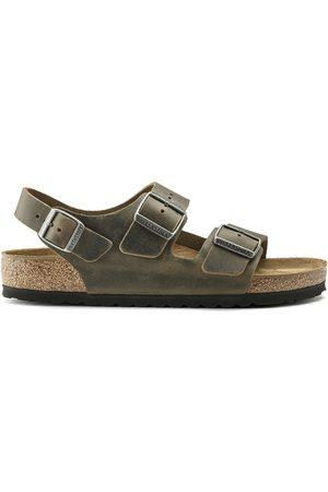 Birkenstock Milano FL Sandals - Faded Khaki Oiled Leather
