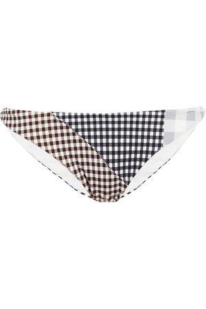 Marysia Woman Suffolk Gingham Low-rise Bikini Briefs Size L