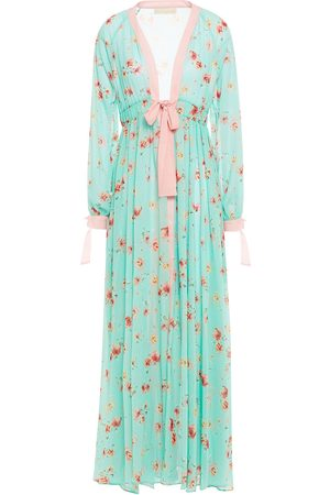 Studio Paloma Women Printed Dresses - Woman Jasmine Floral-print Georgette Maxi Dress Mint Size L