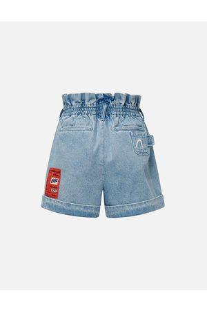 Evisu Woven Label Denim Shorts
