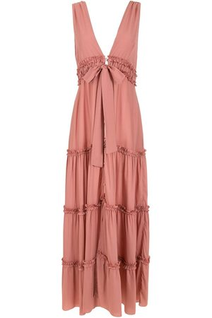 CLUBE BOSSA Tiered button-front dress - Neutrals