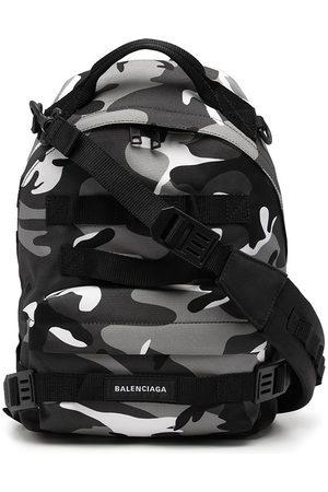 Balenciaga Camouflage-print logo backpack