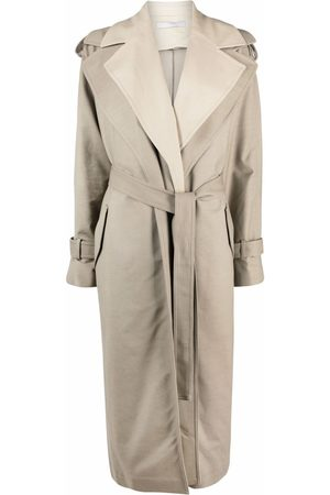 12 STOREEZ Two-tone layered trench coat - Neutrals