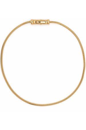 TOM WOOD Boa -plated sterling silver bracelet