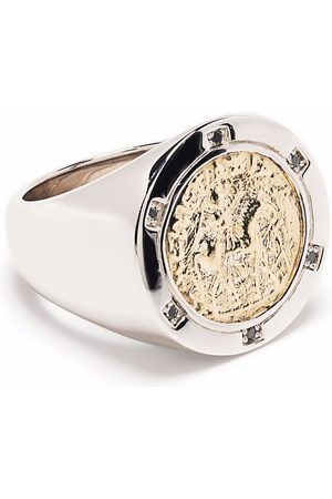 TOM WOOD Rings - Coin 9kt yellow gold and sterling diamond ring
