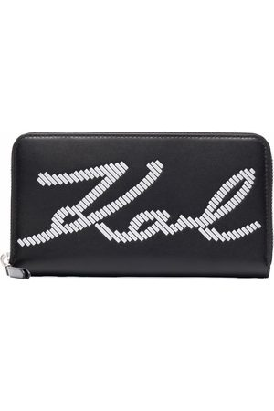 Karl Lagerfeld K/Signature Special Whip leather wallet
